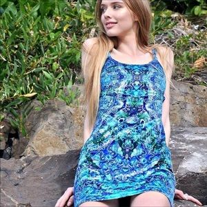 Liberated Heart Water dress size small PSYCHEDELIC